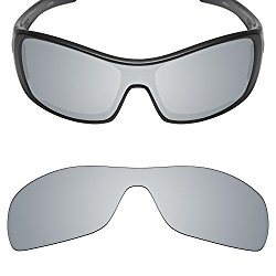 Mryok Replacement Lenses for Oakley Antix Sunglasses – Rich Options (Silver Titanium Non-polarized, 0)