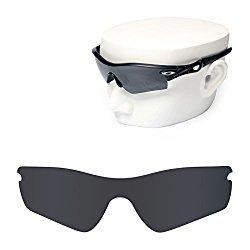 OOWLIT Replacement Sunglass Lenses for Oakley Radar Path POLARIZED (Black, Black Dark Grey-Polarized)