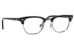 Ray-Ban Clubmaster Square Eyeglasses,Dark Havana,49 mm