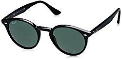 Ray-Ban INJECTED MAN SUNGLASS – BLACK Frame GREY GREEN Lenses 49mm Non-Polarized