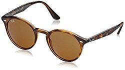 Ray-Ban Women's Highstreet Round Sunglasses, Shiny Havana/Brown, One Size