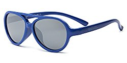 Real Kids Shades Sky Aviator Sunglasses for Kids – Flexfit Frames – Satisfaction Guaranteed – Royal Aviator Flex Fit with PC Silver Mirror Lens 7+