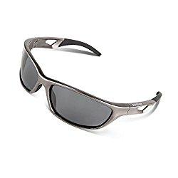 RIVBOS Polarized Sports Sunglasses Driving Sun Glasses for Men Women Tr 90 Unbreakable Frame for Cycling Baseball Running Rb831 (Sliver&Black)