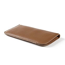 Soft Eyeglass Case – Full Grain Leather – Cognac (brown)