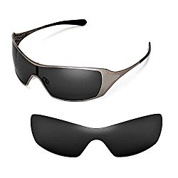 Walleva Polarized Black Replacement Lenses for Oakley Dart Sunglasses