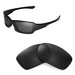 Walleva Polarized Black Replacement Lenses for Oakley Fives Squared Sunglasses