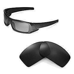 Walleva Replacement Lenses for Oakley Gascan Sunglasses – Multiple Options Available (Black – Polarized)