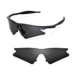 Walleva Replacement Lenses for Oakley M Frame Sweep Sunglasses – Multiple Options Available (Black – Polarized)