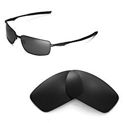 Walleva Replacement Lenses for Oakley Splinter Sunglasses – Multiple Options Available (Black – Polarized)