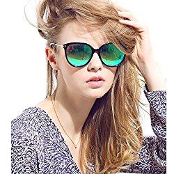 Women's Polarized Sunglasses Cat Eye Sunglasses Aviator Wayfarer Sunglasses+Case