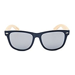 Your Holiday Wooden Bamboo Classic Sunglasses Temples Full frame (Burlywood Black, white)