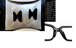 AM Landen 1.8mm 5 Pairs Black Non-slip Silicone Nose Pads for Eyeglasses
