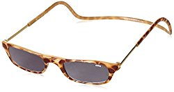 CliC Adjustable Front Connect Ready Sunglass Readers, 2.00 Strength, Light Tortoise
