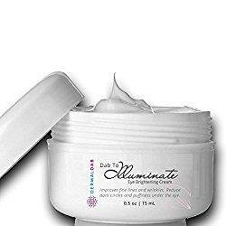 Dab to Illuminate: Natural Eye Cream with Jojoba, Sesame, & Pomegranate Seed Oils, Caffeine, Vitamins A & E, HA, Retinol, Alpha Lipoic Acid, Beta Carotene, Palmitoyl Tetrapeptide-7…For All Skin.