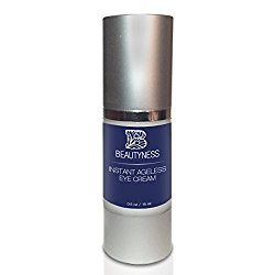 Instant Ageless Eye Cream – Anti Wrinkle Cream, Removes Under Eye Puffiness, Expression Line, & Dark Circles. Disappear Before Your Eyes In Less Than 5 Minutes.