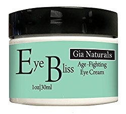 Pure, Natural and Organic EYE BLISS Eye Cream. Full 1 OZ. Firms, Tones, Tightens, Corrects and Prevents Aging. Made in USA. Cruelty Free
