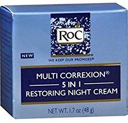RoC Multi Correxion 5 in 1 Restoring Night Cream, 1.7 oz (Pack of 5)