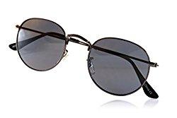 Fa.Beau.Lux Retro Vintage John Lennon Round Sunglasses Mirrored/ Smoke/ Color Tinted Lens (Gun Metal/ Black Smoke, 45)