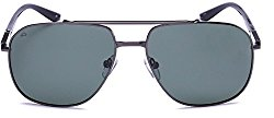 "PRIVÉ REVAUX ""The Dealer"" Handcrafted Designer Polarized Aviator Sunglasses For Men & Women (Grey)"