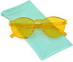 WearMe Pro – Colorful Transparent Round Super Retro Sunglasses