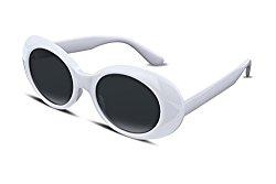FEISEDY Candy Retro Acetate White Frame Clout Goggles Kurt Cobain Sunglasses B2253