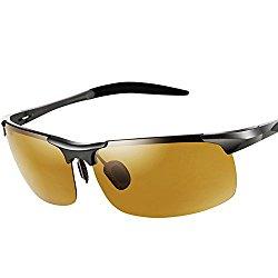 MOTELAN Men's Photochromic Polarized UV400 Sunglasses for Outdoor Fishing Golf Beach Baseball Sports Brown