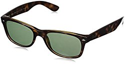 Ray-Ban rb2132 Unisex New Wayfarer Polarized Sunglasses, Tortoise, 52mm