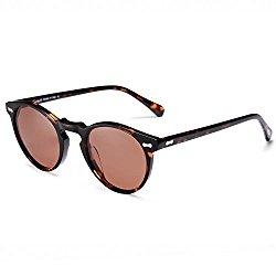 Vintage Round Sunglasses – Carfia Retro Polarized Sunglasses for Women Men, 100% UV400 Protection