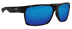Costa Ocearch Half Moon Sunglasses Tiger Shark Frame/ Blue Mirror 580G Glass Lens
