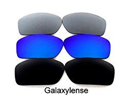 Galaxy Replacement Lenses For Oakley Valve Black/Blue/Titanium Polarized 3 Pairs