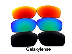 Galaxy Replacement Lenses For Oakley Valve Black/Green/Red Polarized 3 Pairs