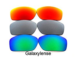 Galaxy Replacement Lenses For Oakley Valve Green/Titanium/Red Polarized 3 Pairs