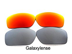 Galaxy Replacement Lenses For Oakley Valve Red/Titanium Color Polarized 2 Pairs