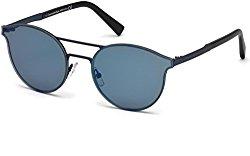 Sunglasses Ermenegildo Zegna EZ 0085 91X matte blue / blu mirror