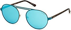 Sunglasses Guess GU 3028 88Q Matte Turquoise / Green Mirror
