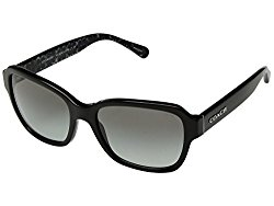 COACH Women's 0HC8232 56mm Black/Dark Grey Gradient One Size