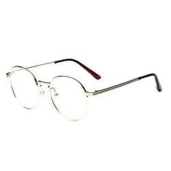 Meijunter Vintage Round Frame Trendy Temple Myopia Glasses Coated Lens -1.0~-5.0