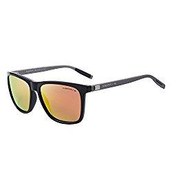 MERRY'S Unisex Polarized Aluminum Sunglasses Vintage Sun Glasses For Men/Women S8286 (Red, 56)
