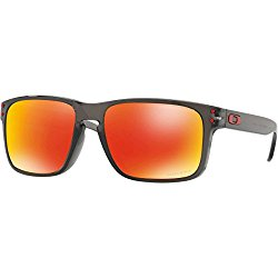 Oakley Men's Holbrook Sunglass, Grey Smoke/Prizm Ruby