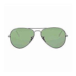 Ray-Ban Classic Aviator Sunglasses, Gunmetal/Green Classic