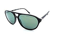 Starck Mikli Sunglasses SH5013 0002/6R 57×14 Shiny Black – Light Green Mirror