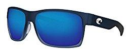 Costa Half Moon Sunglasses Bahama Blue Fade Frame Blue Mirror 580P Plastic Lens