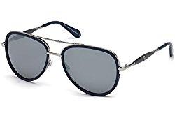 Roberto Cavalli RC1022 RC/1022 91C Matte Blue/Silver Pilot Sunglasses 58mm