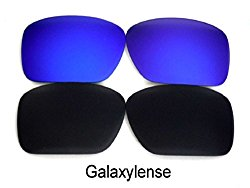 Galaxy Replacement Lenses For Oakley Oil Drum Sunglasses Black/Blue Polarized