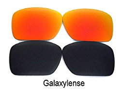 Galaxy Replacement Lenses For Oakley Oil Drum Sunglasses Black/Red Polarized