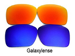 Galaxy Replacement Lenses For Oakley Oil Drum Sunglasses Blue/Red Polarized