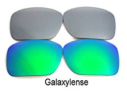 Galaxy Replacement Lenses For Oakley Oil Drum Sunglasses Green/Grey Polarized