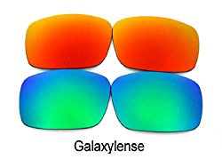 Galaxy Replacement Lenses For Oakley Oil Drum Sunglasses Green/Red Polarized