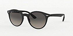 Ray-Ban Plastic Unisex Round Sunglasses, Matte Black, 52 mm
