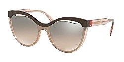 Sunglasses Miu MU 1 TS DHO4P0 BROWN/TRANSPARENT PINK